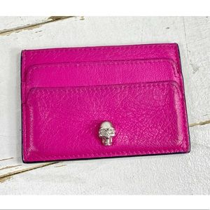 Alexander McQueen Rare Pink Lambskin Cardholder